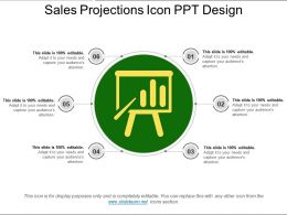 Sales Projections Icon Ppt Design