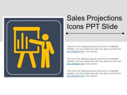 Sales Projections Icons Ppt Slide