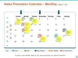 Sales Promotion Calendar Monthly Option Ppt Show Infographic Template