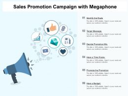 Sales Promotion Campaign With Megaphone