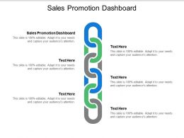 Sales Promotion Dashboard Ppt Powerpoint Presentation Model Designs Download Cpb