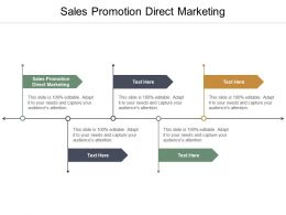 Sales Promotion Direct Marketing Ppt Powerpoint Presentation Infographics Outline Cpb
