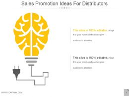 Sales Promotion Ideas For Distributors Powerpoint Topics