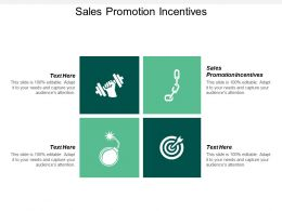 Sales Promotion Incentives Ppt Powerpoint Presentation Infographic Template Grid Cpb
