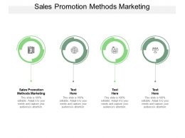 Sales Promotion Methods Marketing Ppt Powerpoint Presentation Gallery Layouts Cpb