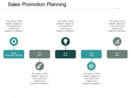 Sales Promotion Planning Ppt Powerpoint Presentation Portfolio Graphics Design Cpb