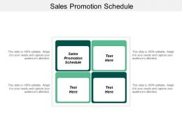 Sales Promotion Schedule Ppt Powerpoint Presentation Infographic Template Gridlines Cpb