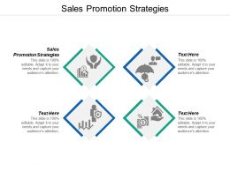 Sales Promotion Strategies Ppt Powerpoint Presentation Icon Format Cpb
