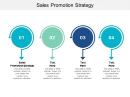 Sales Promotion Strategy Ppt Powerpoint Presentation Gallery Images Cpb
