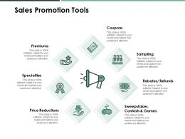 Sales Promotion Tools Price Reductions Ppt Powerpoint Presentation File Templates