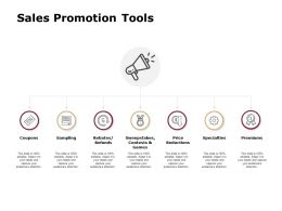 Sales Promotion Tools Price Reductionspremiums Ppt Powerpoint Presentation Gallery Icons