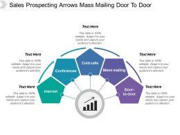 Sales Prospecting Arrows Mass Mailing Door To Door