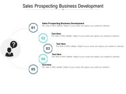 Sales Prospecting Business Development Ppt Powerpoint Presentation Layouts Cpb