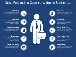 Sales Prospecting Covering Webinars Seminars And Social Networking