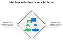 Sales Prospecting Icon Powerpoint Layout