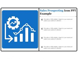 Sales Prospecting Icon Ppt Example