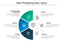 Sales Prospecting Ideas Layout Ppt Powerpoint Presentation Infographics Example Cpb