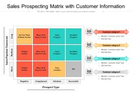 Sales Prospecting Matrix With Customer Information