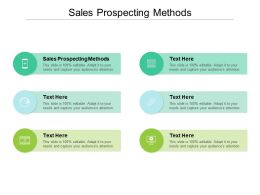 Sales Prospecting Methods Ppt Powerpoint Presentation Slides Graphics Cpb