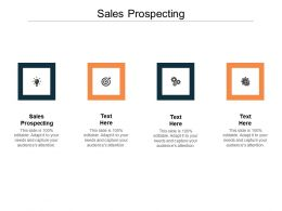 Sales Prospecting Ppt Powerpoint Presentation Model Graphic Tips Cpb