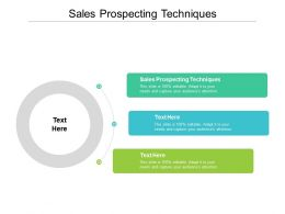 Sales Prospecting Techniques Ppt Powerpoint Presentation Show Microsoft Cpb