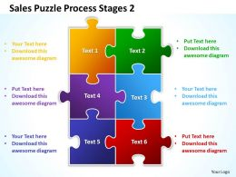 Sales Puzzle  Process Stages 2 Powerpoint Templates ppt presentation slides 812