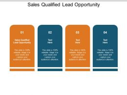 Sales Qualified Lead Opportunity Ppt Powerpoint Presentation Infographic Cpb