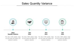 Sales Quantity Variance Ppt Powerpoint Presentation Summary Graphics Example Cpb