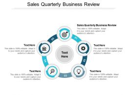 Sales Quarterly Business Review Ppt Powerpoint Presentation Styles Model Cpb
