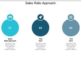 Sales Ratio Approach Ppt Powerpoint Presentation Slides Aids Cpb