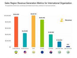 Sales Region Revenue Generation Metrics For International Organization
