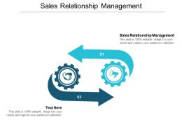 Sales Relationship Management Ppt Powerpoint Presentation Gallery Background Designs Cpb