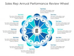 Sales Rep Annual Performance Review Wheel Infographic Template