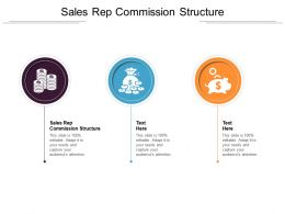 Sales Rep Commission Structure Ppt Powerpoint Presentation Infographics Good Cpb