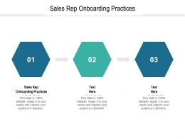 Sales Rep Onboarding Practices Ppt Powerpoint Presentation Gallery File Formats Cpb
