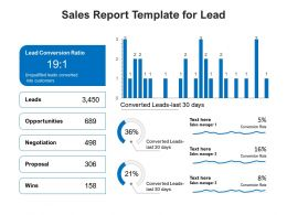 Sales Report Template For Lead