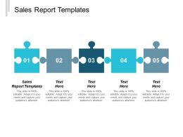 Sales Report Templates Ppt Powerpoint Presentation Infographic Template Backgrounds Cpb