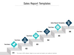 Sales Report Templates Ppt Powerpoint Presentation Model Format Cpb