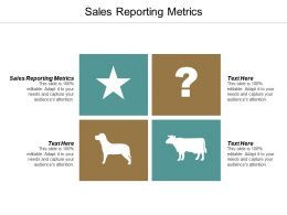 Sales Reporting Metrics Ppt Powerpoint Presentation Layouts Graphics Pictures Cpb