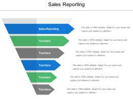 Sales Reporting Ppt Powerpoint Presentation Ideas Shapes Cpb