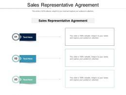 Sales Representative Agreement Ppt Powerpoint Presentation Slides Ideas Cpb