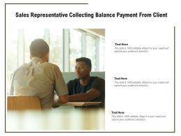 Sales Representative Collecting Balance Payment From Client