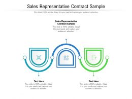 Sales Representative Contract Sample Ppt Ideas Background Images Cpb