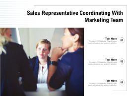 Sales Representative Coordinating With Marketing Team