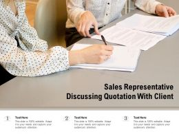 Sales Representative Discussing Quotation With Client