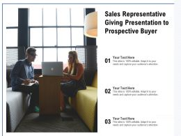 Sales Representative Giving Presentation To Prospective Buyer