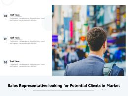 Sales Representative Looking For Potential Clients In Market