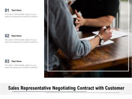 Sales Representative Negotiating Contract With Customer