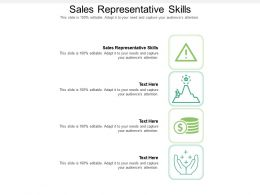 Sales Representative Skills Ppt Powerpoint Presentation Icon Cpb