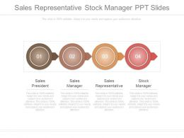 Sales Representative Stock Manager Ppt Slides